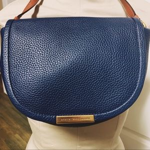 Marc Jacobs Blue Gold Sadat Crossbody Shoulder Bag